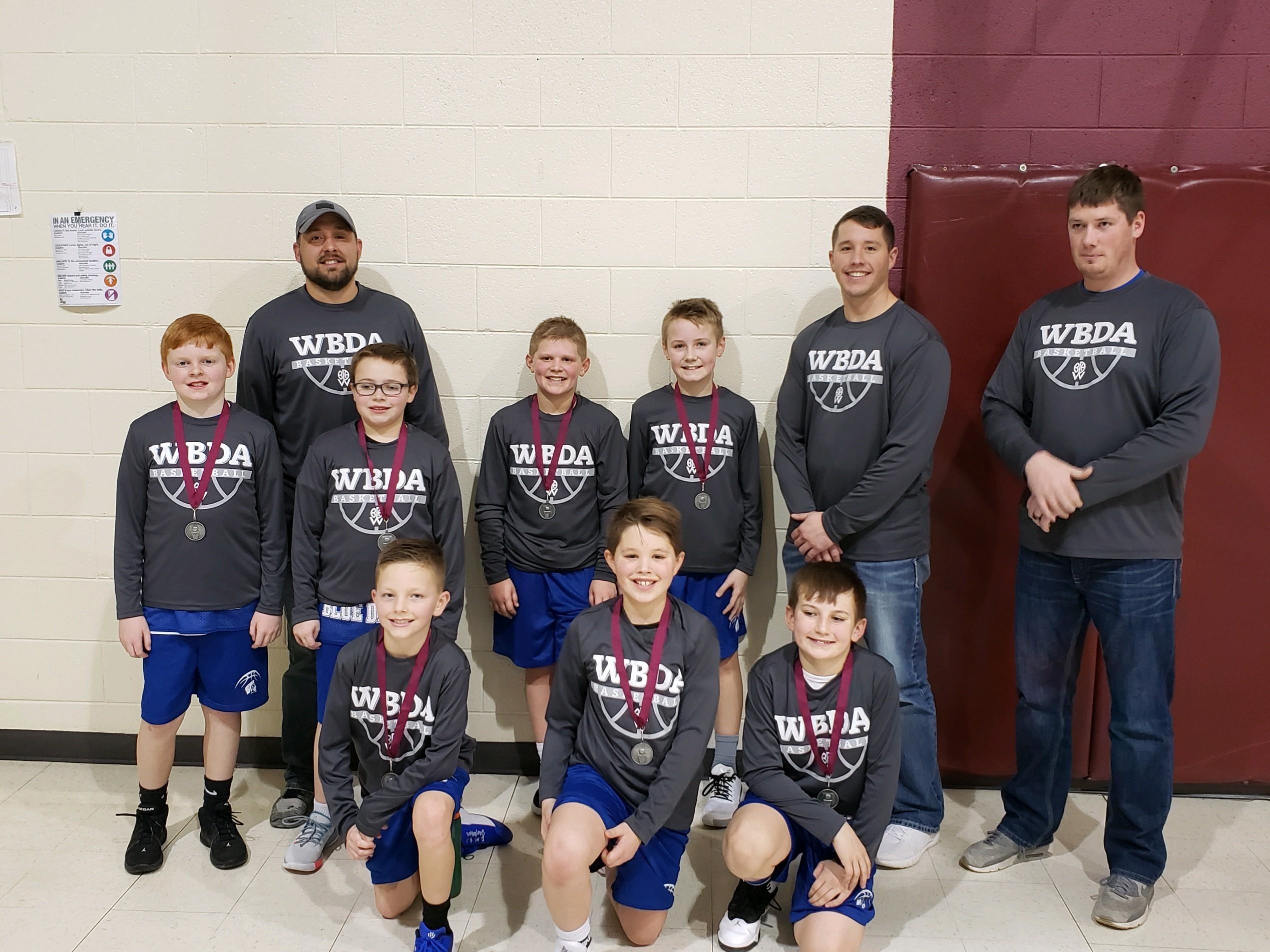 2020 5th Grade Boys Blue - Crofton 2nd Place