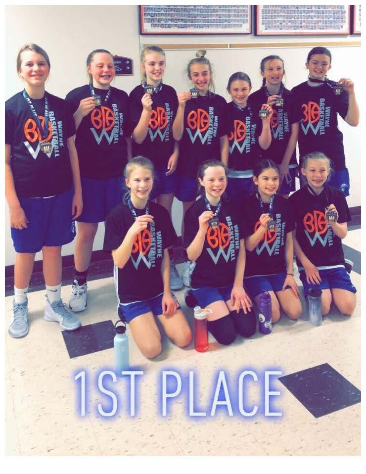 2020 6th Grade Girls - Norfolk Catholic 1st Place